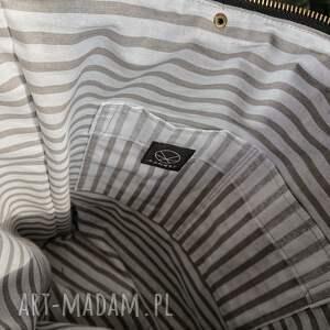 hand made na ramię torba khaki na double canvas
