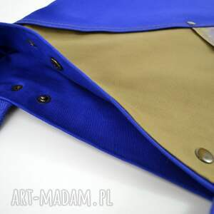 beżowe na ramię wegańska torba serenity blue