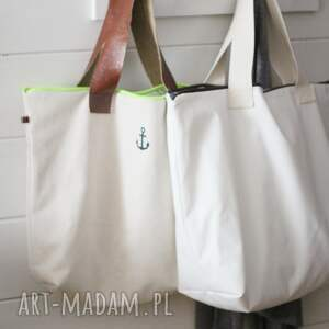 hand made na ramię torba white