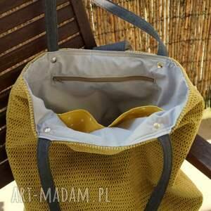 ręcznie robione na ramię torba - worek