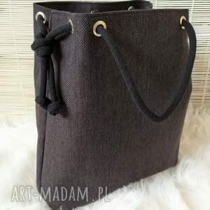 nietuzinkowe na ramię torebka torba worek czarna