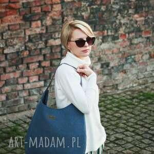 Musslico na ramię torba na ramie worek niebiesko szary