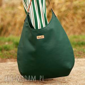 efektowne na ramię torba worek zielen z miodem