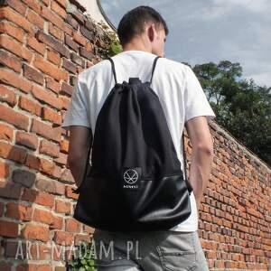 na ramię torba worek czarny 2w1