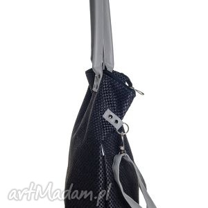 urokliwe na ramię torba worek plecionka black&gray