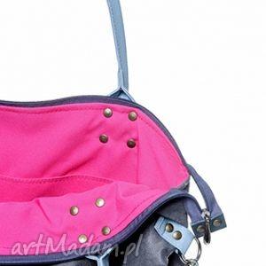 różowe na ramię worek torba mysza light blue