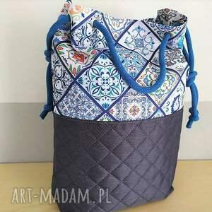 unikatowe na ramię torba worek wzór portugalski