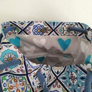torebka na ramię torba worek wzór portugalski