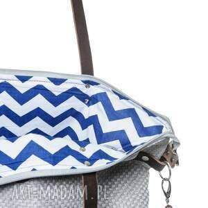 niepowtarzalne na ramię duża torba worek plecionka simple