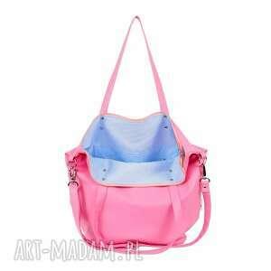 na ramię ekoskóra torba worek waterproof all pink