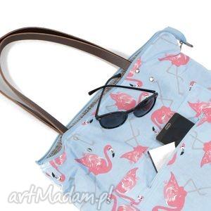 szare na ramię torba w fasonie worka wykonana z plecionej