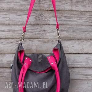 różowe na ramię worek torba mysza #fuksja
