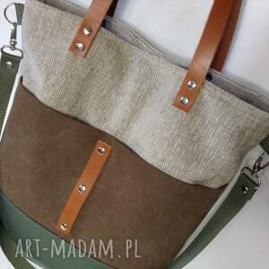 torba na ramię zielone ramię, torebka do ręki