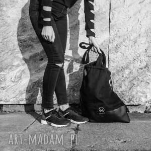 torba-na-ramie na ramię torba worek black hemp 2w1