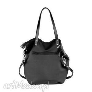 czarne na ramię worek torba all black pocket