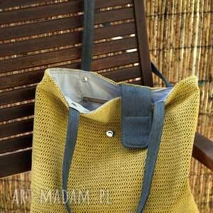 żółte na ramię torba - worek