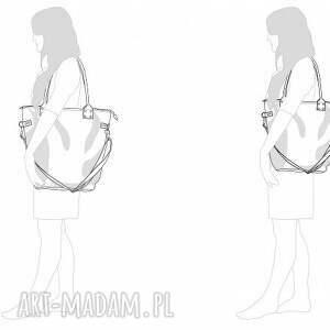 unikalne na ramię zakupy torba worek beige szaro błękitny