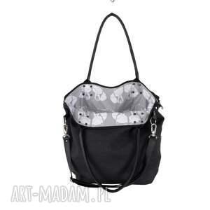 szare na ramię modna torba worek graphite canvas #black