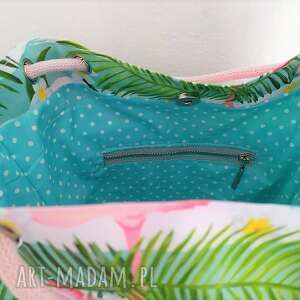 torebka na ramię torba worek flamingi