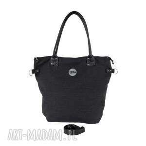wyjątkowe na ramię pojemna torba worek graphite canvas #black