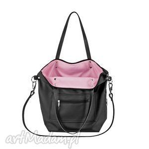 ręcznie zrobione na ramię personalizacja torba worek all black pocket
