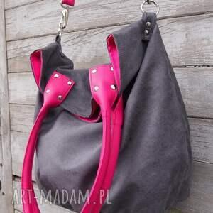 prezent na ramię torba worek mysza #fuksja