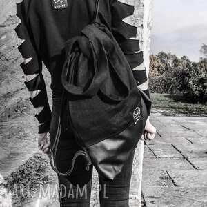 niebanalne na ramię torba-worek torba worek black hemp 2w1