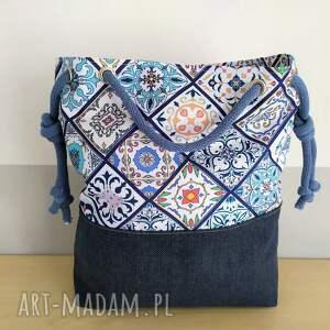 torebka torba worek wzór portugalski