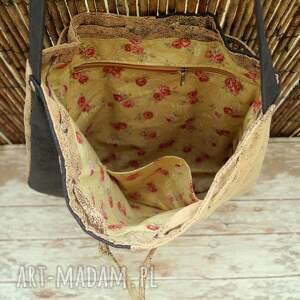 na ramię torebka torba - worek