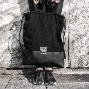 na ramię torba-na-ramie torba worek black hemp 2w1