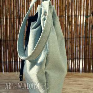 turkusowe na ramię torba - worek