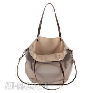 beżowe na ramię torba worek simple waterproof
