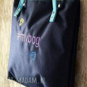 1d57c929b599c unikalne na ramię hashtag torba z haftem  mybag