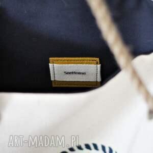 niebanalne na ramię torba z żaglowcem