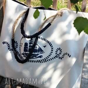 niebanalne na ramię torebka torba z żaglowcem