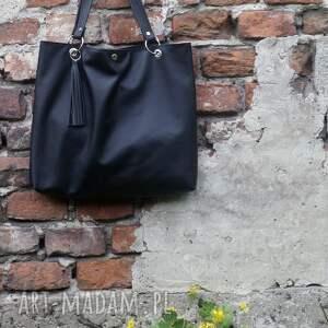 eleganckie na ramię torebka torbiszcze czarne z wkładem