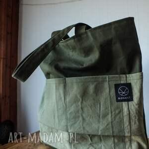 unikalne na ramię ekologiczna torebka canvas khaki
