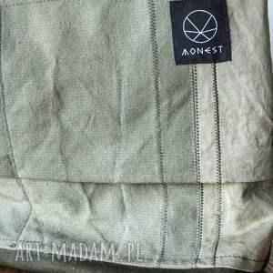oliwkowa na ramię torebka canvas khaki