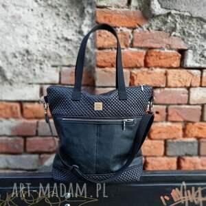 handmade na ramię czarna torebka catoo premium #02