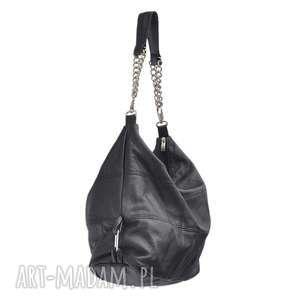 trendy na ramię torba-z-łańcuszkiem 05-0001 torebka czarna
