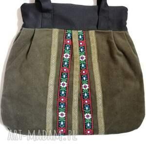 wyjątkowe na ramię torebka damska retro zielen zgniła