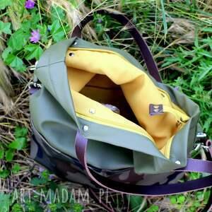 atrakcyjne na ramię torebka damska cube oliwkowa
