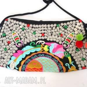 na ramię haft torebka damska haftowana hmong