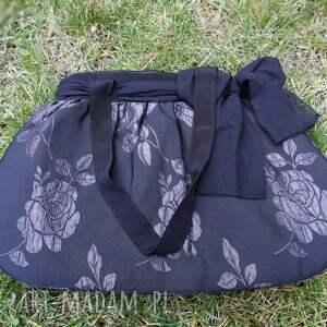 2604b2309ba2 na ramię kokarda torebka damska retro czarna vintage