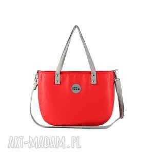 czerwone na ramię elegancka torebka damska aktówka czerwona