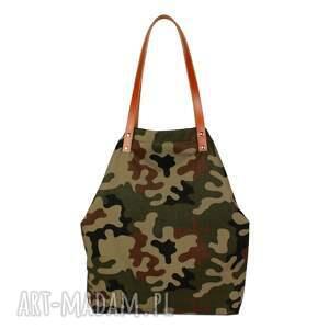 pojemna-torebka na ramię torebka damska cube moro