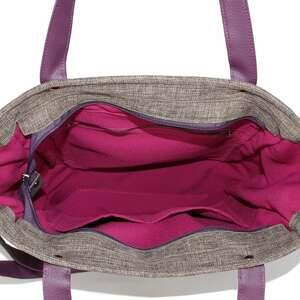 torebka damska na ramię fioletowe cuboid z nutką