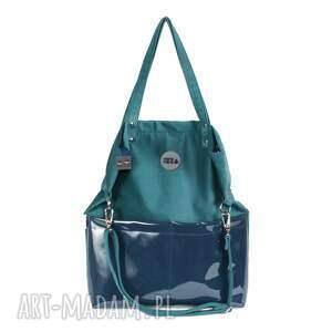 torba do pracy na ramię damska torebka o płaskim fasonie uszyta