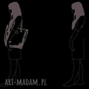 na ramię duża torebka damska cube szara
