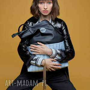 hand made na ramię wodoodporna torebka damska cube czarna